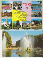 CARRIERES SUR SEINE - SARTROUVILLE - CONFLANS - HOUILLES - LE PECQ Etc. 2 CP Multivues - Versailles Bassin D'Apollon - Autres Communes