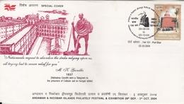 India 2005  Mahatma Gandhi  Text Of Telegramme Port Blair  Special Cover  #  21091   D  Inde Indien - Mahatma Gandhi
