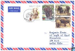 Sri Lanka Stamps, Elephants, Personalized Cover - Sri Lanka (Ceylon) (1948-...)