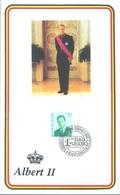 BELGIUM - 18.4.1994 - CM/MK - ALBERT II - COB 2551 -  Lot 20081 - OUT OF SIZE SENDING TARIF UP TO 100Gr - Cartes-maximum (CM)