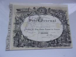 PETIT JOURNAL - Actions & Titres