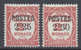 MONACO 1937 Nº 152/153 - Neufs