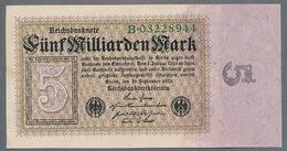 P115 Ro112a DEU-132a. 5 Milliard Mark 10.09.1923 AUNC- - [ 3] 1918-1933 : República De Weimar