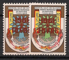 Guinée - 1961 - N°Yv. 52 à 53 - Année Du Réfugié - Surcharge Rouge - Neuf Luxe ** / MNH / Postfrisch - Guinea (1958-...)