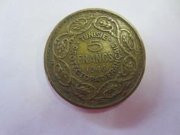 Pièce De 5 Francs 1946 Tunisie  Protectorat Francais - Tunisie