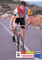RICHARD Pascal SUI (Vevey (Vaud), 16-3-'64) 1987 Toshiba - Radsport