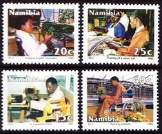 Namibia (previously SWA) - 1992 - Equalisation Of The Disabled Workers - Complete Set - Fábricas Y Industrias