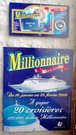 FDJ - F.D.J. MILLIONNAIRE MOBILE PLAFOND FRANÇAISE DES JEUX 2000 PUBLICITÉ PLV A SUSPENDRE NEUVE GRATTAGE - Serbon63 - Publicités