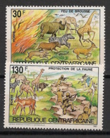 Centrafricaine - 1984 - N°Yv. 602 à 603 - Protection Faune / Animals - Neuf Luxe ** / MNH / Postfrisch - Central African Republic
