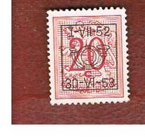 BELGIO (BELGIUM) -  1952 HERALDIC LION (PRE CANCELED 1-VIII-52) -  USED - Typo Precancels 1951-80 (Figure On Lion)