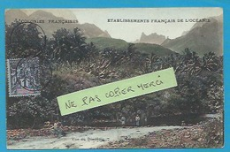 %>>Océanie***Polynésie Française - Tahiti - Vue Du Diadème (rare Colorisée - Timbrée Oblitérée) - Tahiti