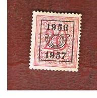 BELGIO (BELGIUM) -  1956 HERALDIC LION (PRE CANCELED 1956.57) -  USED - Typo Precancels 1951-80 (Figure On Lion)