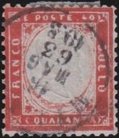 Italia   .     Yvert     .   4    .     O        .   Oblitéré    .    /   .    Cancelled - 1861-78 Vittorio Emanuele II