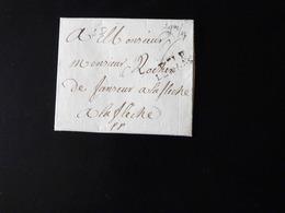 LETTRE DE LE MANS POUR LA FLECHE - Postmark Collection (Covers)