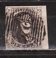 6  Médaillon Non Dentelé - Belles Marges - BORD DE FEUILLE - Oblit. P24 BRUXELLES - LOOK!!!! - 1851-1857 Médaillons (6/8)
