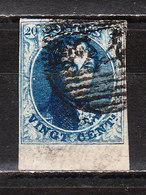 7  Médaillon Non Dentelé - Belles Marges - BORD DE FEUILLE - Oblit. P24 BRUXELLES - LOOK!!!! - 1851-1857 Médaillons (6/8)