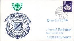 """(FC-3) BRD Cachetumschlag Bundeswehr """"20 JAHRE FERNMELDEBATAILLON 210"""" EF Mi 849 TSt 22.10.1977 DILLINGEN - BRD"""