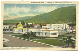 ( HAITI )( PORT AU PRINCE  ) UN COIN DE L EXPOSITION INTERNATIONALE - Haiti