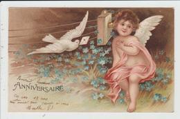 THEME FANTAISIES - JOYEUX ANNIVERSAIRE - ANGE ET COLOMBE - Birthday