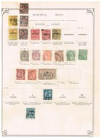France Levant  Ancienne Collection Sur Feuille D'époque - Collections (sans Albums)