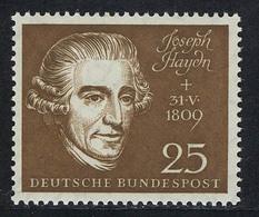 318 Haydn 25 Pf Aus Block 2 Beethovenhalle ** - BRD