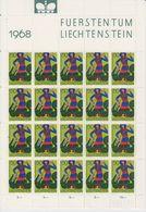 Liechtenstein 1968 Freimarke / Kirchenpatrone St Georg Schellenberg 1v Sheetlet ** Mnh (LI241C) - Liechtenstein