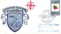 """(FC-3) BRD Cachetumschlag Bundeswehr """"FLUGKÖRPER-TESTSTATION 2304 LABOE - LFK-TEST"""" EF Mi 928 SSt 9.12.1977 LABOE - BRD"""