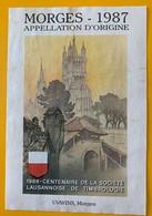 11180 - Morges 1987  1988 Centenaire De La Société Lausannoise De Timbrologie Suisse - Etiquettes