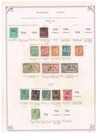France Dédéagh + Vathy +Cavalle   Ancienne Collection Sur Feuille D'époque - Collections (sans Albums)