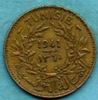 R13/ TUNISIA / TUNISIE  1 FRANC 1941 / 1360 - Tunisie