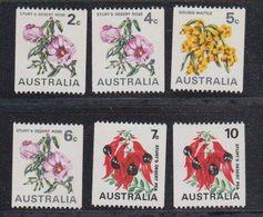 Australia 1970-1975 Flowers (coil Stamps) 6v ** Mnh (43989K) - Ongebruikt