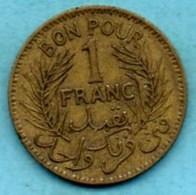 R13/  TUNISIE /  1 Franc 1945  KM#247   PROTECTORAT FRANCAIS - Tunisie