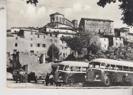 CAPRANICA PRENESTINA ROMA PIAZZA BACCELLI BUS CORRIERE  1956 - Other