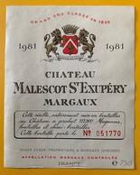 11189 -  Château Malescot St Exupéry 1981 Margaux - Bordeaux