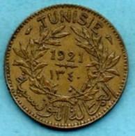 R13/  TUNISIE /  1 Franc 1921  KM#247   PROTECTORAT FRANCAIS - Tunisie