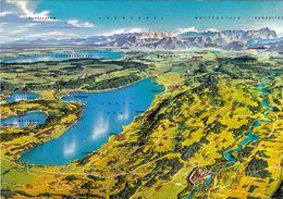 1 Map Of Germany * 1 Ansichtskarte Mit Der Landkarte - Panorama Vom Ammersee Mit Wörth- Pilsensee Und Starnberger See * - Landkarten