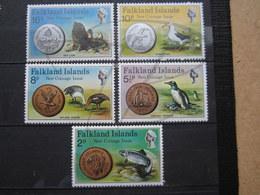 VEND BEAUX TIMBRES DE FALKLAND N° 239 - 243 , XX !!! - Falklandinseln