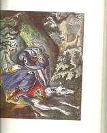 Gravure La Femme Du Loup Gris  Breton Légende Bretonne Bretagne  Au Verso Sorcière Sorcellerie - Altri