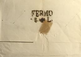 1855 FERMO SANITA SANTA LUCIA - 1. ...-1850 Prefilatelia