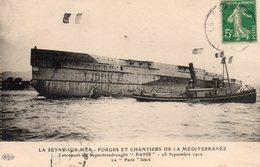 83 LA SEYNE SUR MER LANCEMENT DU SUPERDREADNOUGHT PARIS LE 18/07/1912 LE PARIS LANCE - La Seyne-sur-Mer