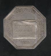 Jeton Affiches Réunies Paris 1815 - Annonces Judiciaires Légales Et Avis Divers - Professionnels / De Société