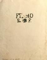 1855 FERMO SANITA SAN FRANCESCO - 1. ...-1850 Prefilatelia