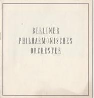Programm 1954 Berliner Philharmonisches Orchester Zum Gedenken Wilhelm Furtwängler - Programmes