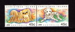 CHRISTMAS  ISLAND   1994    Chinese  New  Year    Pair    MNH - Christmas Island