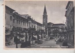 PORTOGRUARO VENEZIA VIA VITTORIO EMANUELE 1953 - Venezia (Venice)