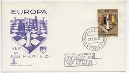 San Marino 1965 Chess Europa/ Schach FDC  H310 - Ajedrez