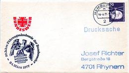 """(FC-3) BRD Cachetumschlag Bundeswehr """"20 Jahre Führungsakademie Der Bundeswehr"""" EF Mi 849 TSt 14.4.1977 HAMBURG - BRD"""