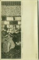 VUILLARD - BIBLIOTHEQUE - LE RAVAUNDAGE - PHOTO E. DRUET - RPPC POSTCARD 1910s (BG64) - Peintures & Tableaux