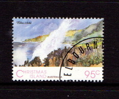 CHRISTMAS  ISLAND   1993    Scenic  Views  95c  Blow  Holes    USED - Christmas Island