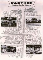 1 Map Of Germany * 1 Ansichtskarte Mit Der Landkarte - Rasthof Hermsdorfer Kreuz * - Landkarten